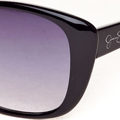 Women: Jessica Simpson Accessories: Black Jessica Simpson Cat Eye Sunglasses