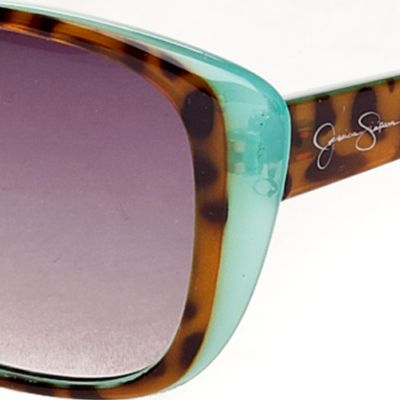 Jessica Simpson: Blue Jessica Simpson Cat Eye Sunglasses
