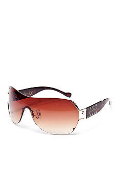 Jessica Simpson Vented Lens Shield Sunglasses