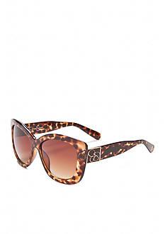 Jessica Simpson Oversized Retro Cat Eye Sunglasses