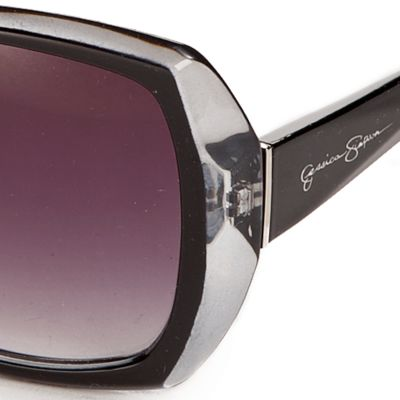 Women: Jessica Simpson Accessories: Black Jessica Simpson Oversized Glam Sunglasses