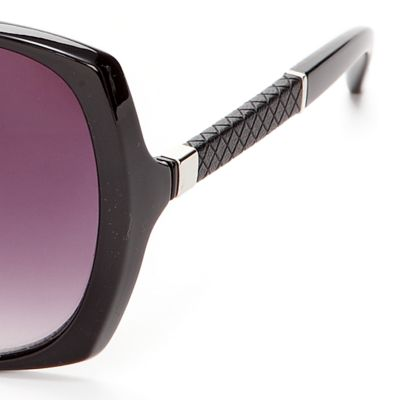 Women: Jessica Simpson Accessories: Black Jessica Simpson Square Glam Sunglasses