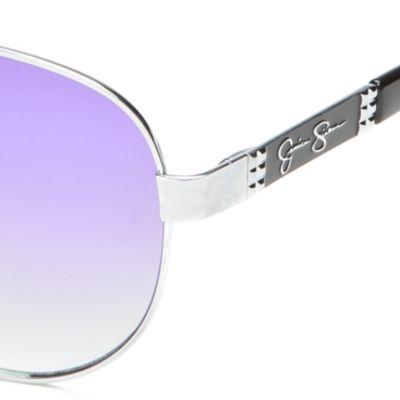 Aviator Sunglasses: Silver/Black Jessica Simpson Aviator Sunglasses