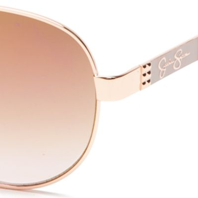 Womens Sunglasses: Rose Gold Jessica Simpson Round Glam Sunglasses
