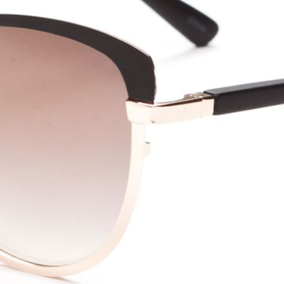 Women: Jessica Simpson Accessories: Black Jessica Simpson Brow Bar Cat Eye Sunglasses