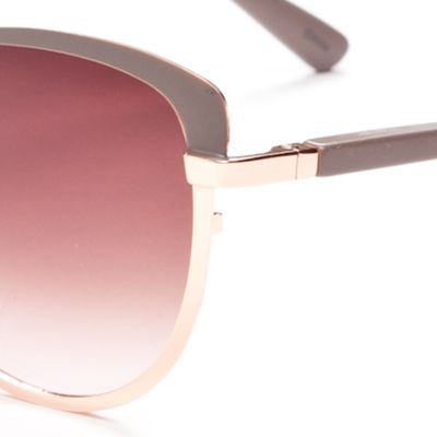 Women: Jessica Simpson Accessories: Nude Jessica Simpson Brow Bar Cat Eye Sunglasses