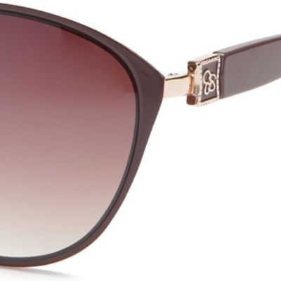Jessica Simpson Juniors Sale: Gold / Brown Jessica Simpson Cateye Sunglasses