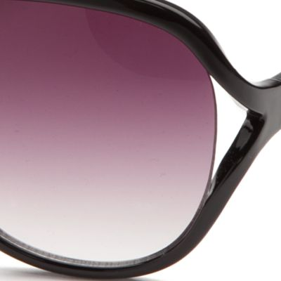 Women: Jessica Simpson Accessories: Black Jessica Simpson Vented Glam Sunglasses