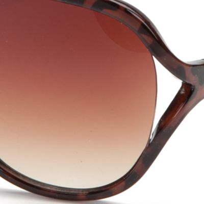 Women: Jessica Simpson Accessories: Tortoise Jessica Simpson Vented Glam Sunglasses