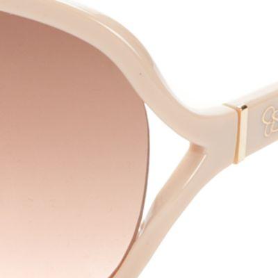 Juniors: Jessica Simpson Accessories: Tan/Khaki Jessica Simpson Vented Glam Sunglasses