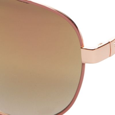 Handbags & Accessories: Aviator Sale: Rose Gold Jessica Simpson Mirrored Chain Temple Aviator
