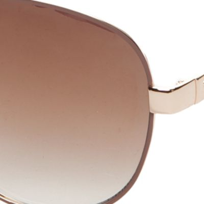 Handbags & Accessories: Aviator Sale: Gold/ Nude Jessica Simpson Mirrored Chain Temple Aviator