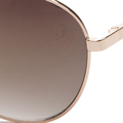Women: Jessica Simpson Accessories: Gold Jessica Simpson Metal Mirrored Aviator Sunglasses
