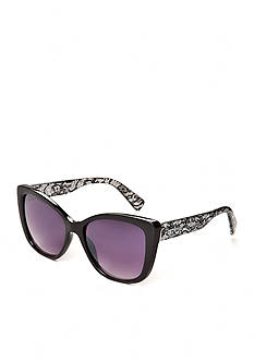 Jessica Simpson Lace Plastic Cat Eye Sunglasses
