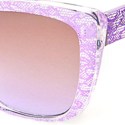 Women: Jessica Simpson Accessories: Lilac Jessica Simpson Lace Plastic Cat Eye Sunglasses