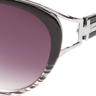 Womens Sunglasses: Black Jessica Simpson Oversized Vent Cateye Sunglasses