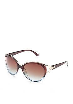 Jessica Simpson Oversized Vent Cateye Sunglasses