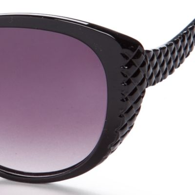 Womens Sunglasses: Black Jessica Simpson Cateye Sunglasses
