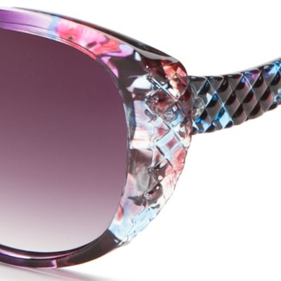 Cat Eye Sunglasses: Purple Jessica Simpson Cateye Sunglasses