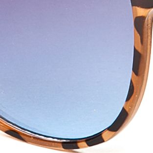 Women: Jessica Simpson Accessories: Tortoise Jessica Simpson Round Metal Bridge Retro Sunglasses
