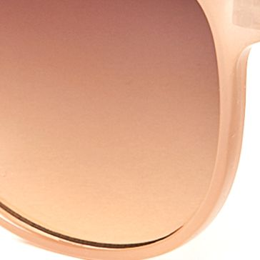 Women: Jessica Simpson Accessories: Nude Jessica Simpson Round Metal Bridge Retro Sunglasses
