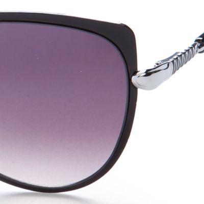 Cat Eye Sunglasses: Black Jessica Simpson Oversized Cateye Sunglasses