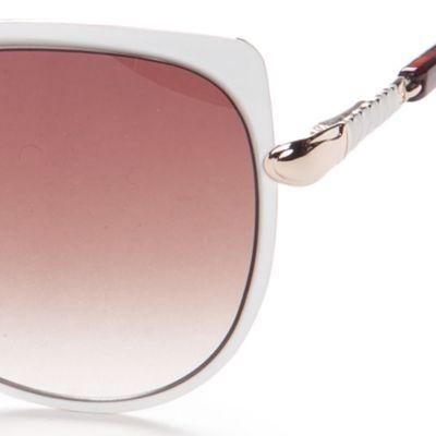 Cat Eye Sunglasses: White Jessica Simpson Oversized Cateye Sunglasses