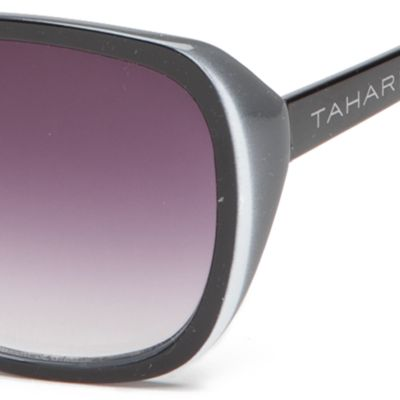 Rectangle Sunglasses: Black TAHARI™ Glam Rectangle Sunglasses