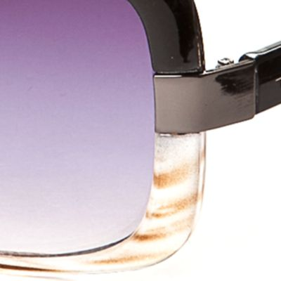 Handbags & Accessories: Rectangle Sale: Ombre Black TAHARI™ Ombre Rectangle Sunglasses