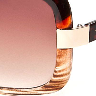 Handbags & Accessories: Rectangle Sale: Ombre Tortoise TAHARI™ Ombre Rectangle Sunglasses