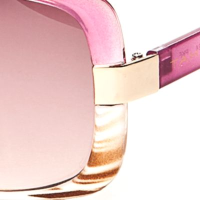 Tahari Women: Milky Fuchsia TAHARI™ Ombre Rectangle Sunglasses