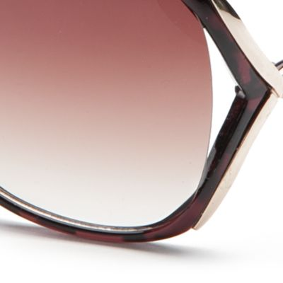 Handbags & Accessories: Sunglasses Sale: Tortoise TAHARI™ Rhinestone Vented Sunglasses