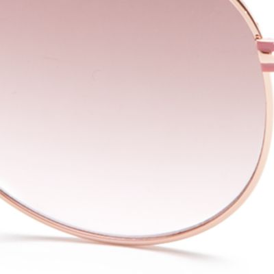Tahari Women: Rose Gold TAHARI™ Boyfriend Aviator Sunglasses