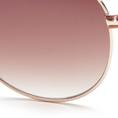 Tahari Women: Gold TAHARI™ Boyfriend Aviator Sunglasses