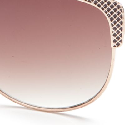Womens Sunglasses: Gold TAHARI™ Cat Eye Sunglasses