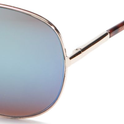 Handbags & Accessories: Aviator Sale: Gold TAHARI™ Classic Mirror Aviator Sunglasses