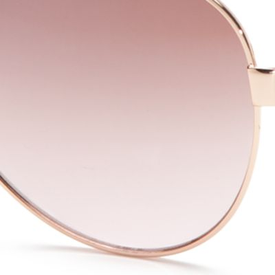 Womens Sunglasses: Rose Gold TAHARI™ Aviator Sunglasses