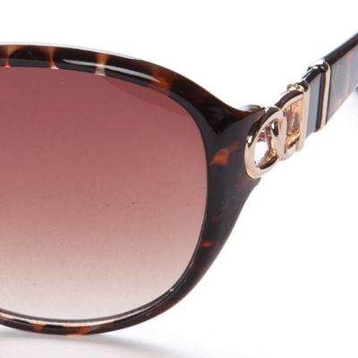Tahari: Brown TAHARI Oval Glam Sunglasses