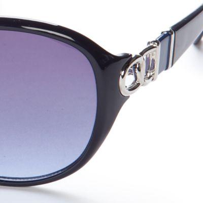 Tahari: Blue TAHARI Oval Glam Sunglasses