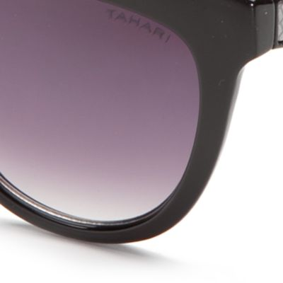 Handbags & Accessories: Rectangle Sale: Black TAHARI™ Rectangle Sunglasses
