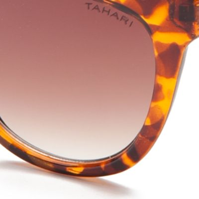 Womens Sunglasses: Tortoise TAHARI™ Rectangle Sunglasses