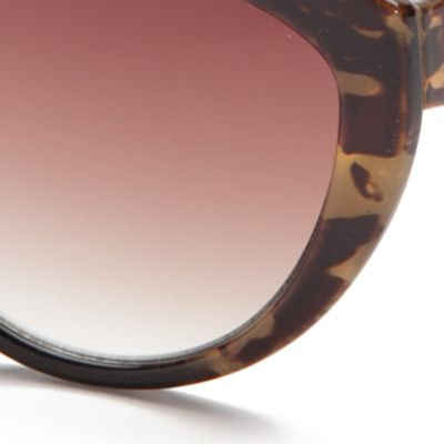 Cat Eye Sunglasses: Brown Green TAHARI™ Ombre Cat Eye Sunglasses
