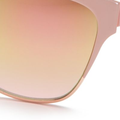 Cat Eye Sunglasses: Rose Gold TAHARI™ Mirror Cat Eye Sunglasses