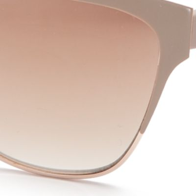 Cat Eye Sunglasses: Gold Matte TAHARI™ Mirror Cat Eye Sunglasses