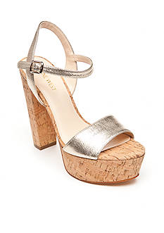 Nine West Carnation Cork Platform Sandal