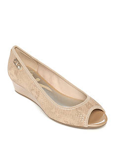 Anne Klein Camrynne Wedge Peep Toe Pump