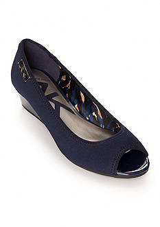 Anne Klein Camrynne Wedge Open Toe Pump