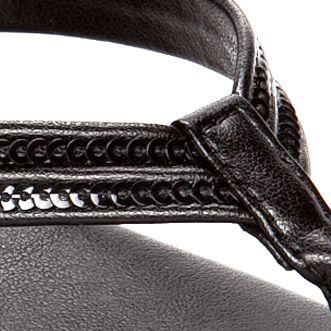 Flat Sandals for Women: Black Italian Shoemakers Ember Sandal