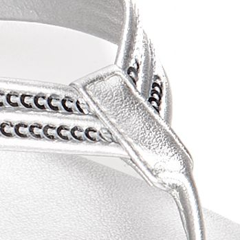 Flat Sandals for Women: Silver Italian Shoemakers Ember Sandal