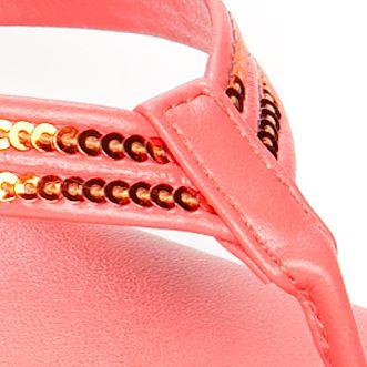 Flat Sandals for Women: Coral Italian Shoemakers Ember Sandal